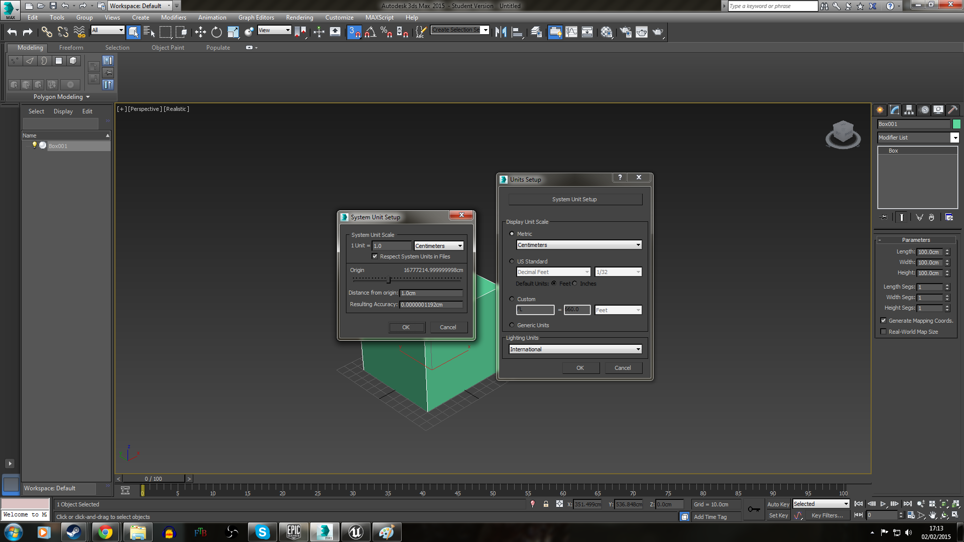 Moving forwards: Scale in 3dsMax and Unreal 4 | The